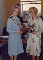 Cynthia Nicholas receiving Derek Turner Trophy